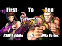 xWAx Vortex(Guile) Vs ASAP Rabbito(Juri) First to Ten USF4 (Exclusive Set!)